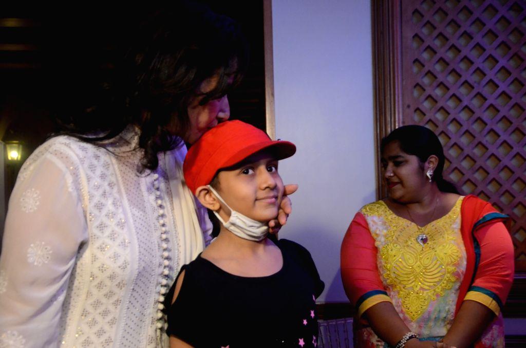 Actress Manisha Koirala during  'My Hair for Cancer' - a programme organised in Mumbai on April 18, 2017. - Manisha Koirala