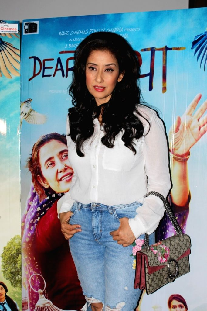 Actress Manisha Koirala during the interview for film Dear Maya in Mumbai on May 27, 2017. - Manisha Koirala