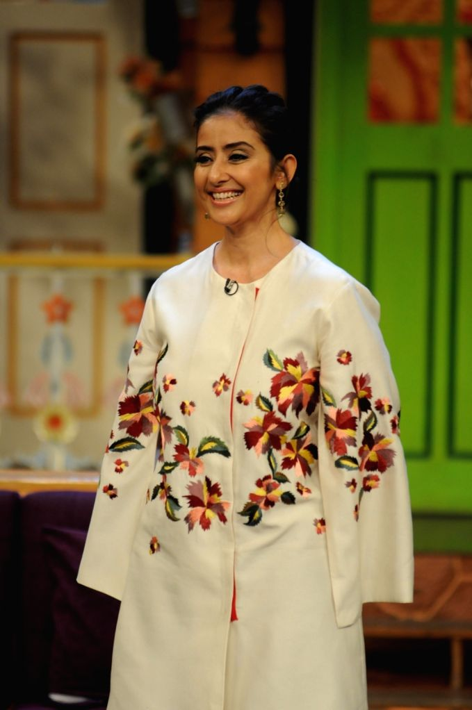 "Actress Manisha Koirala during the promotion of film ""Dear Maya"" on the sets of The Kapil Sharma Show in Mumbai on May 11, 2017. - Manisha Koirala"