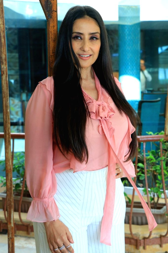 "Actress Manisha Koirala during the promotion of his upcoming film ""Prasthanam"", in Mumbai, on Aug 26, 2019. - Manisha Koirala"