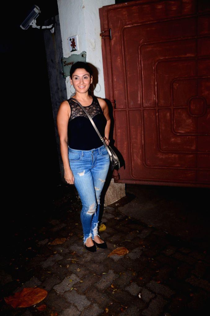 """Actress Manjari Phadnis at the screening of the Marathi film """"Smile Please"""" in Mumbai on July 15, 2019. - Manjari Phadnis"""