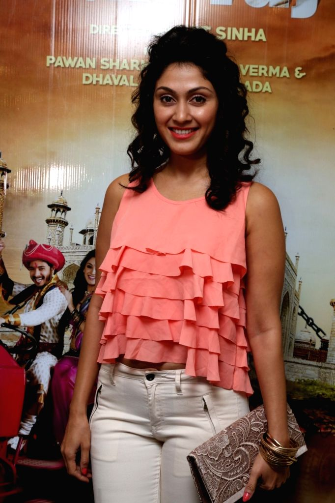 Actress Manjari Phadnis during the screening of film Wah Taj, in Mumbai on Sept 22, 2016. - Manjari Phadnis
