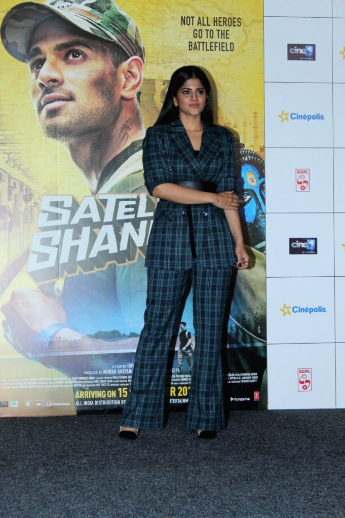 "Actress Megha Akash during the trailer launch of her upcoming film ""Satellite Shankar"" in Mumbai on Oct 17, 2019. - Megha Akash"