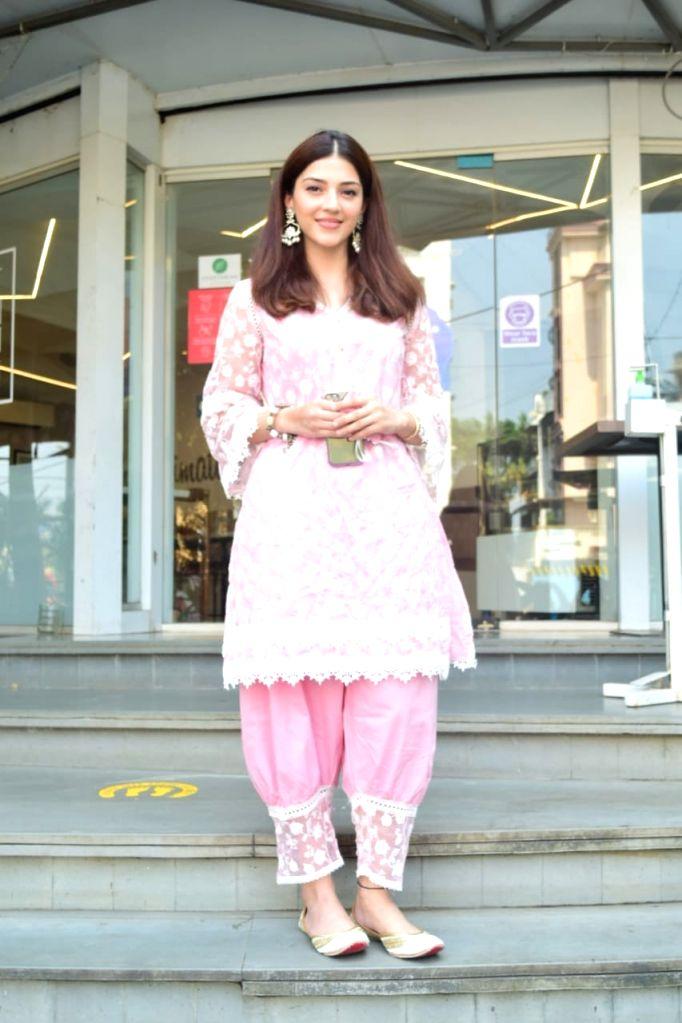 Actress Mehreen Pirzada seen at Juhu in Mumbai on Oct 27, 2020. - Mehreen Pirzada