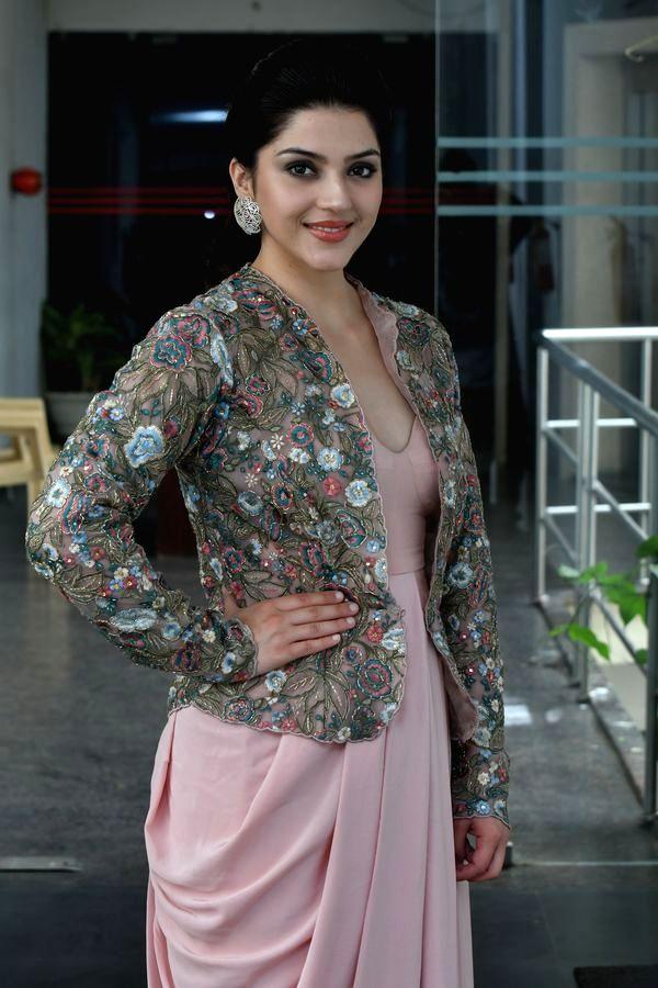 Actress Mehrene Kaur Pirzada a interview in Hyderabad. - Mehrene Kaur Pirzada