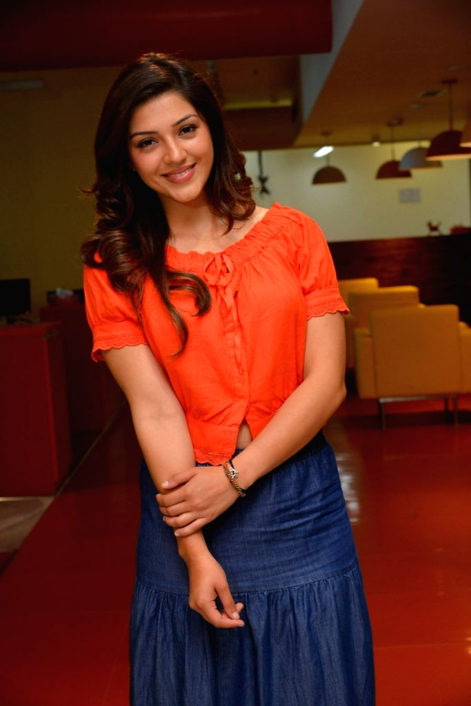 """Actress Mehrene Kaur Pirzada during the promotion of their upcoming film """"Raja the Great"""" on the Radio Mirchi 98.3 FM in Hyderabad. - Mehrene Kaur Pirzada"""