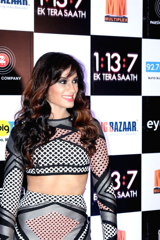 Actress Melanie Nazareth during the trailer and music launch of film 1:13:7 Ek Tera Saath in Mumbai on Sept. 16, 2016. - Melanie Nazareth