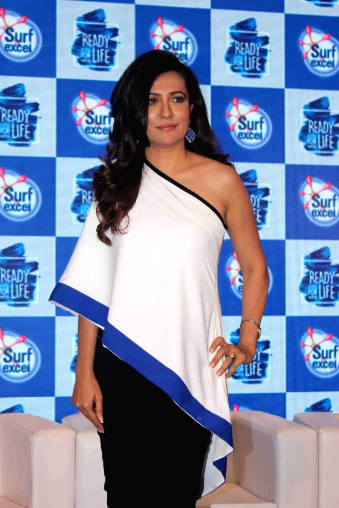 Actress Mini Mathur during Ready For Life campaign promoted by Surf excel, in Mumbai, on April 21, 2016. - Mini Mathur