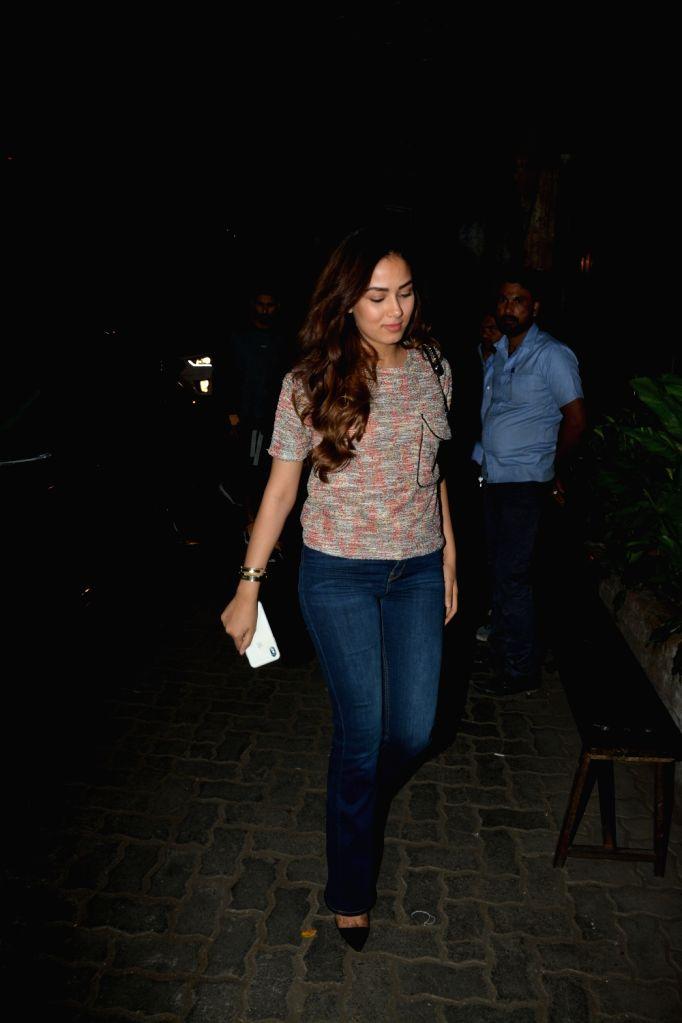 Actress Mira Rajput spotted at Palli Village Cafe Bandra in Mumbai on Feb 8, 2019. - Mira Rajput