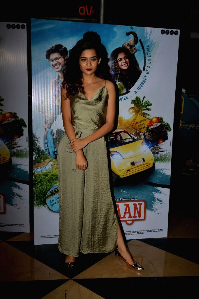 """Actress Mithila Palkar at the special screening of her upcoming film """"Karwaan"""", in Mumbai on Aug 2, 2018. - Mithila Palkar"""