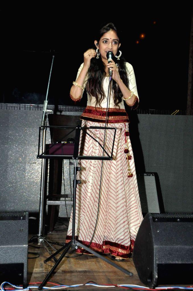 Actress Monali Thakur during the music launch of film Lakshmi at Hard Rock Cafe in Mumbai on December 20, 2013. - Monali Thakur