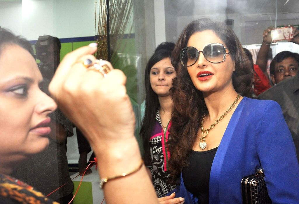 Actress Monica Bedi during a programme in Kolkata on Aug 20, 2014.