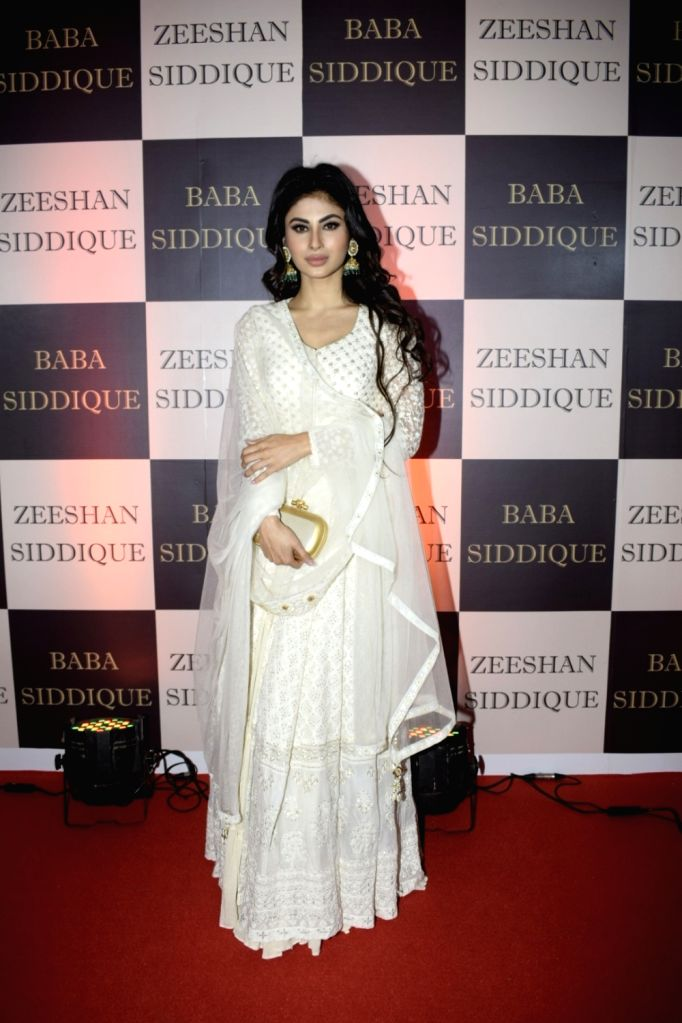 Actress Mouni Roy at politician Baba Siddique's iftar party in Mumbai on June 10, 2018. - Mouni Roy
