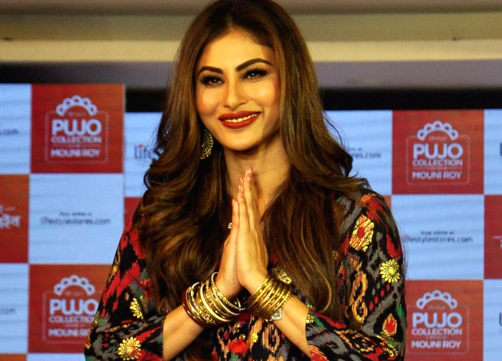 Actress Mouni Roy at the launch of a fashion collection in Kolkata, on Sep 3, 2019. - Mouni Roy