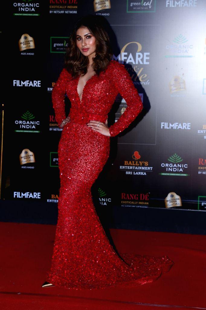Actress Mouni Roy on the red carpet of Filmfare Glamour And Style Awards 2019 in Mumbai on Dec 3, 2019. - Mouni Roy