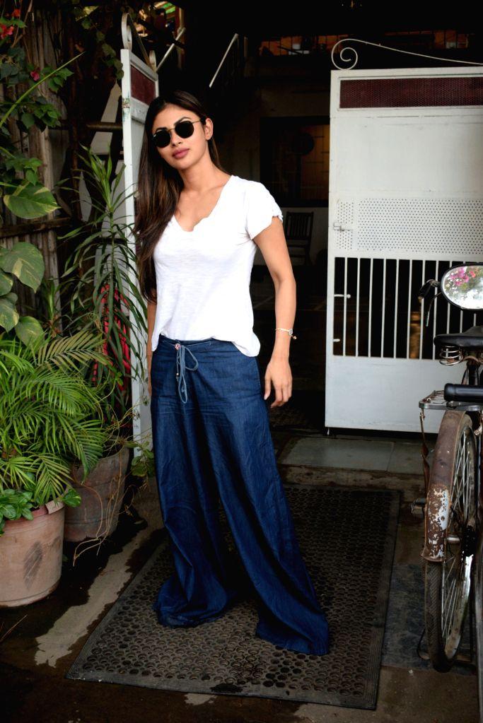 Actress Mouni Roy seen at Mumbai's Versova on April 30, 2019. - Mouni Roy