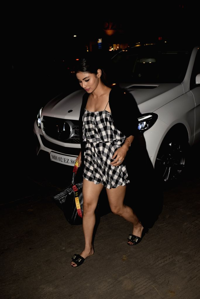 Actress Mouni Roy seen outside a club in Mumbai's Bandra, on March 7, 2019. - Mouni Roy