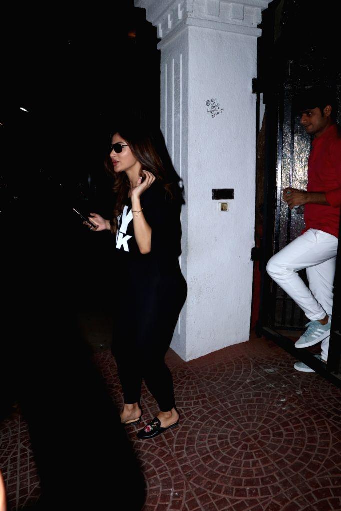 Actress Mouni Roy seen outside office of producer Anand Pandit in Mumbai on Nov 28, 2019. - Mouni Roy