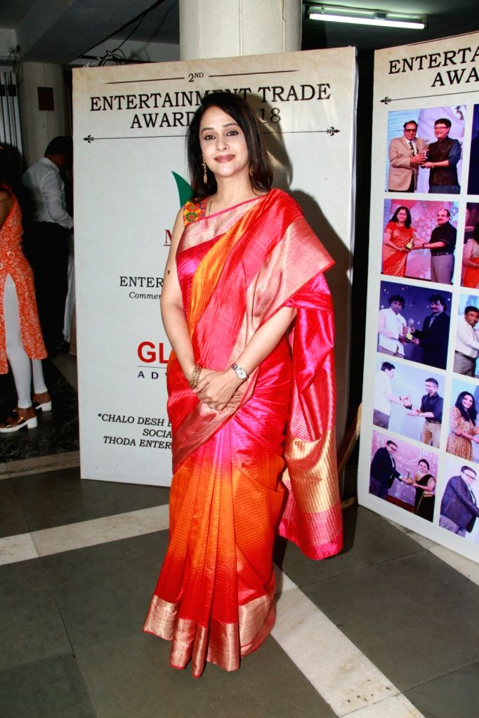 Actress Mrinal Kulkarni during Entertainment Trade Awards 2018 in Mumbai. - Mrinal Kulkarni