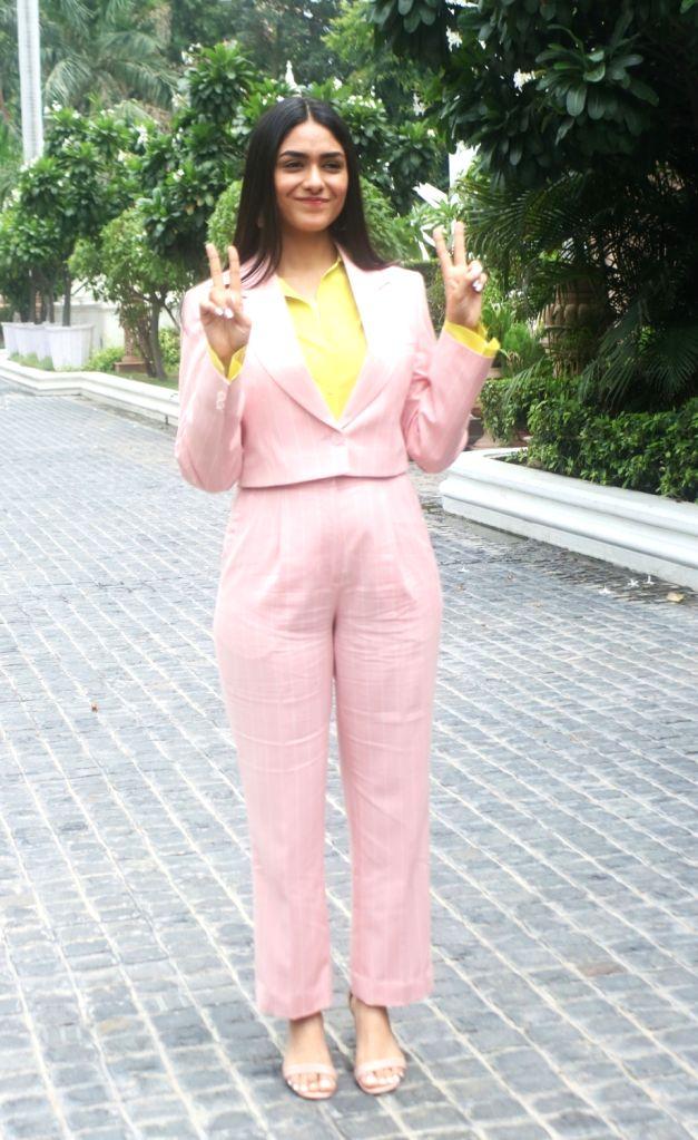 "Actress Mrunal Thakur during the promotions of her upcoming film ""Batla House"" in New Delhi on Aug 3, 2019. - Mrunal Thakur"