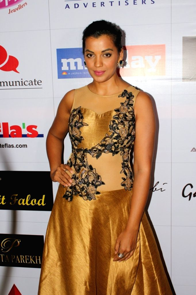 "Actress Mugdha Godse at ""Page3 Fashion & Lifestyle Awards"" in Mumbai on Sept 15, 2017. - Mugdha Godse"