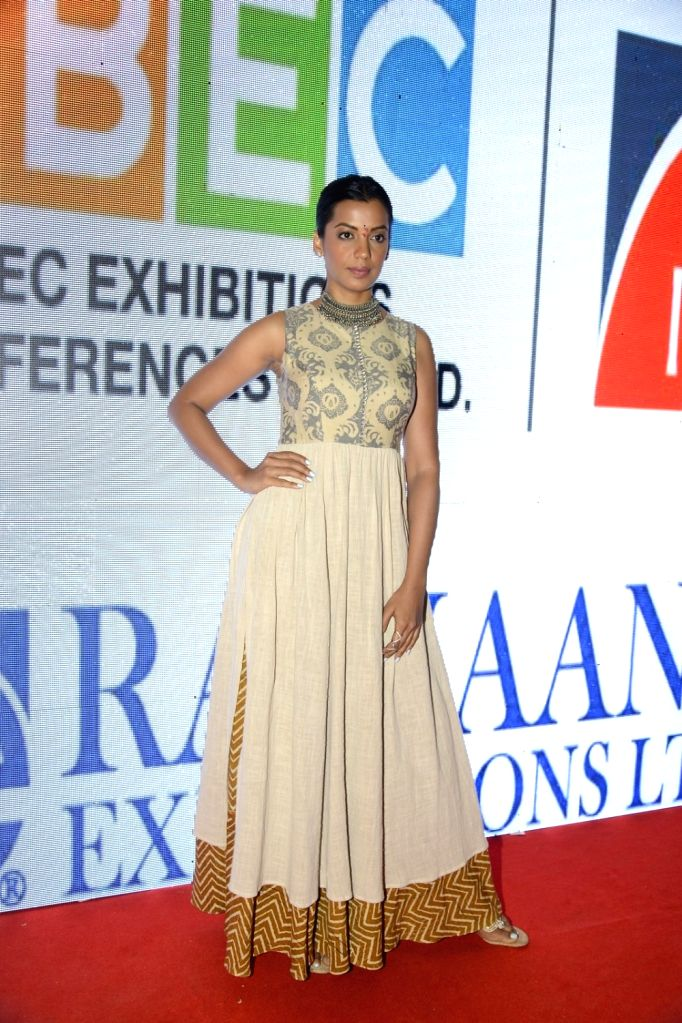 Actress Mugdha Godse during the jewellery exhibition at Bombay Exhibition Centre, NESCO, in Mumbai, on Aug 20, 2016. - Mugdha Godse
