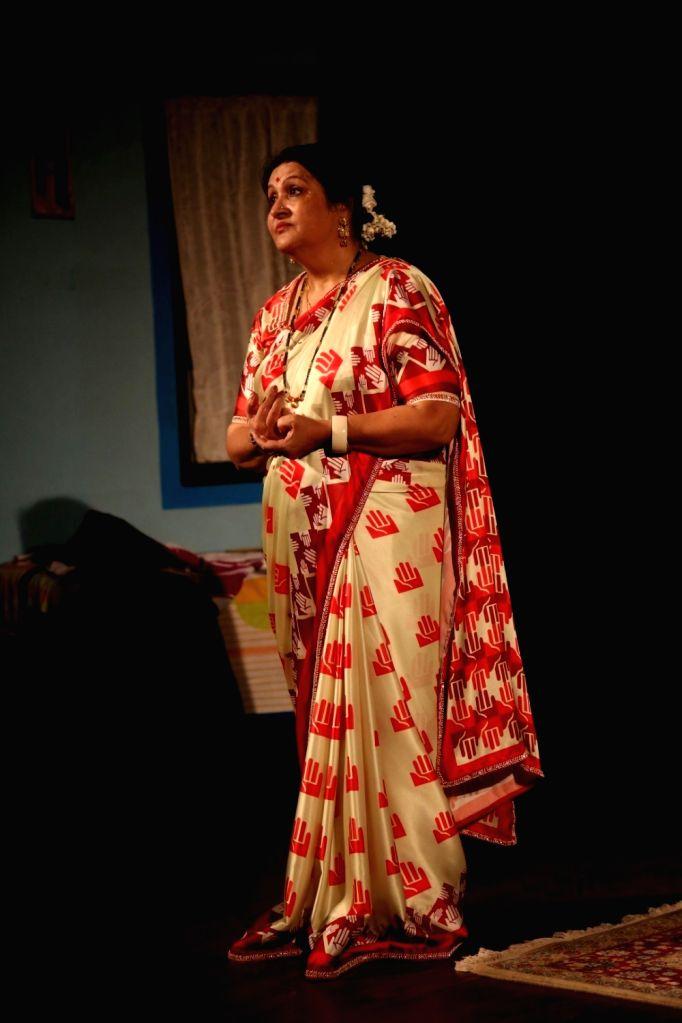 Actress Nadira Babbar during the opening ceremony of Rang Parwaaz Mahotsav by Nadira Babbar to celebrate 35 years of Ekjute in Mumbai on Sept. 24, 2016. - Nadira Babbar