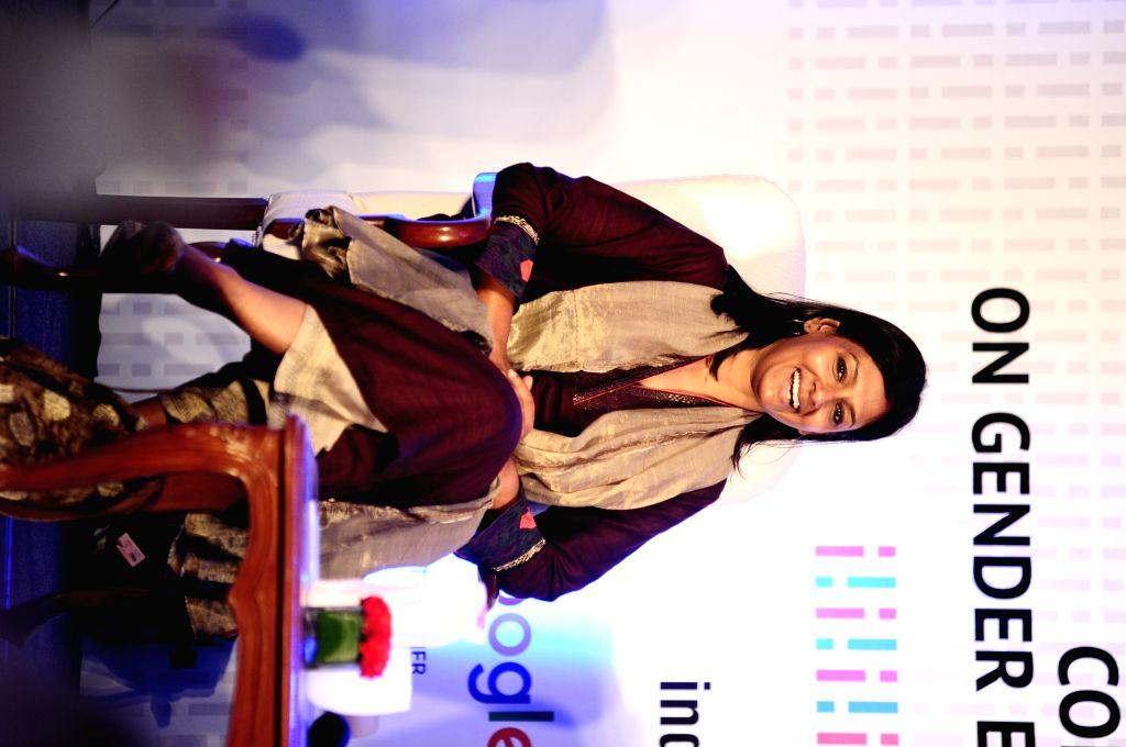 "Actress  Nandita Das arrives to attend "" The Bridge"" -  India's first conclave on gender empowerment in New Delhi, on Oct 8, 2016. - Nandita Das"