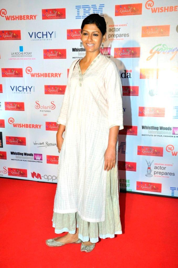 Actress Nandita Das during Kashish 2016 panel discussion on Freedom of Expression and Censorship in Indian Cinema, in Mumbai on May 27, 2016. - Nandita Das