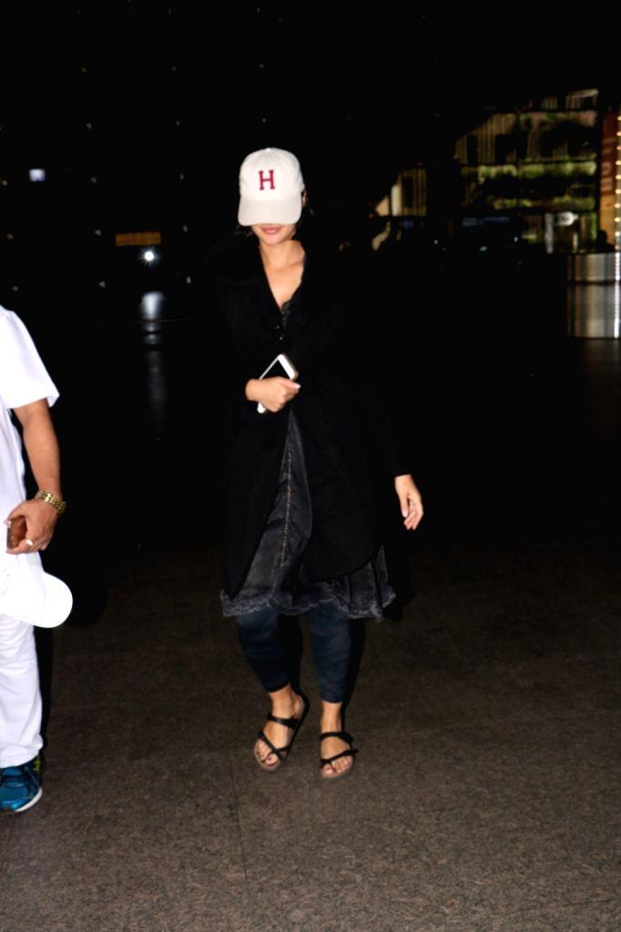 Actress Nargis Fakhri seen at Chhatrapati Shivaji Maharaj International airport in Mumbai. - Nargis Fakhri