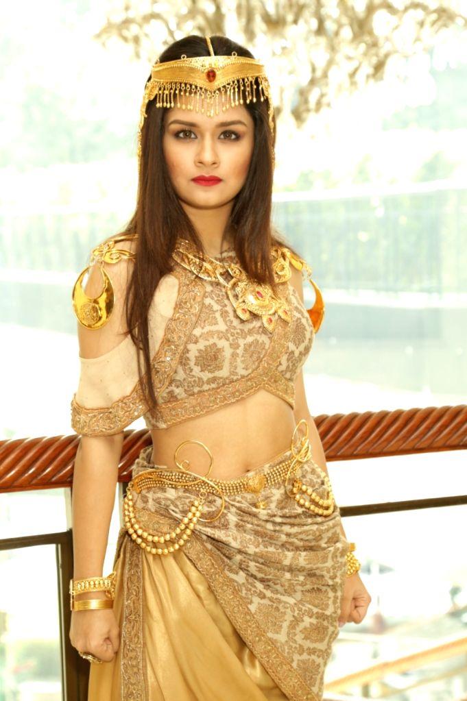 "Actress Navneet Kaur at a press meet of television show ""Aladdin - Naam Toh Suna Hoga"", in New Delhi on Sept 11, 2018. - Navneet Kaur"