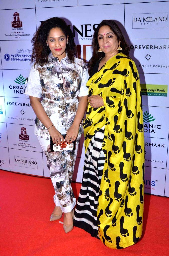 Actress Neena Gupta and her daughter and fashion designer Masaba Gupta during the Business Women Entrepreneurs- The Super Achievers in Mumbai on Oct 21, 2015. - Neena Gupta and Masaba Gupta