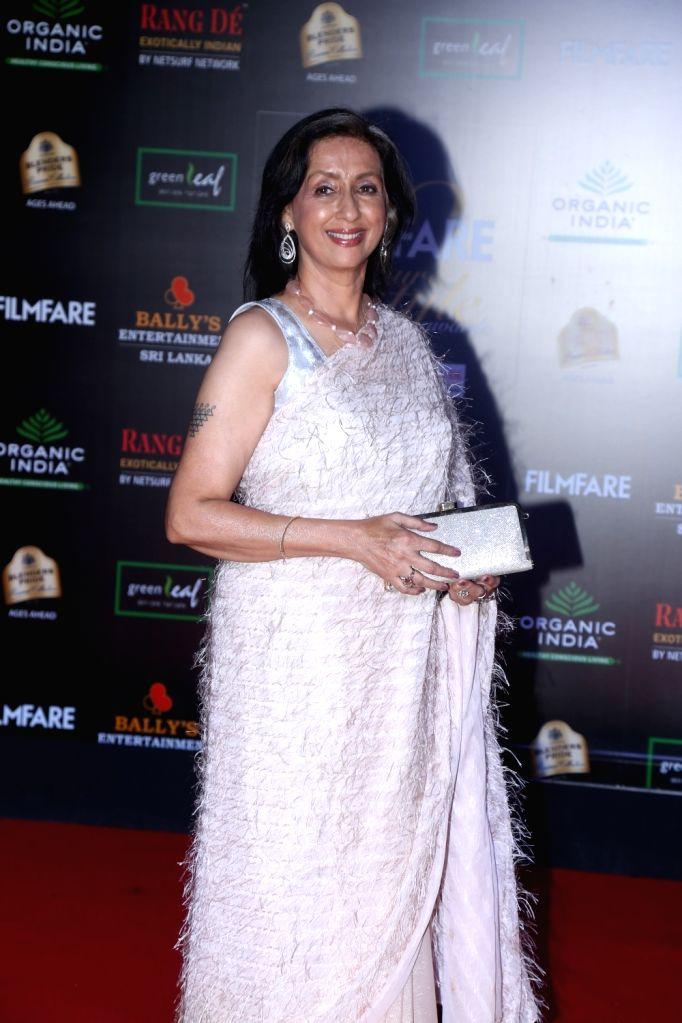 Actress Neena Kulkarni on the red carpet of Filmfare Glamour And Style Awards 2019 in Mumbai on Dec 3, 2019. - Neena Kulkarni