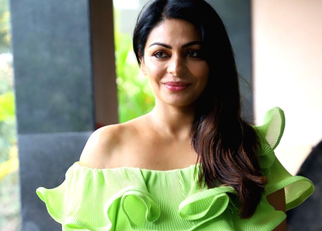 "Actress Neeru Bajwa during the promotion of her upcoming film ""Shadaa"", in Mumbai on June 12, 2019. - Neeru Bajwa"