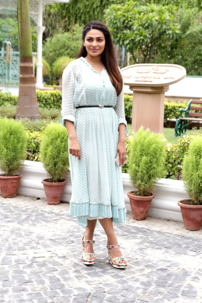 "Actress Neeru Bajwa during the promotion of her upcoming film ""Shadaa"", in New Delhi on June 18, 2019. - Neeru Bajwa"
