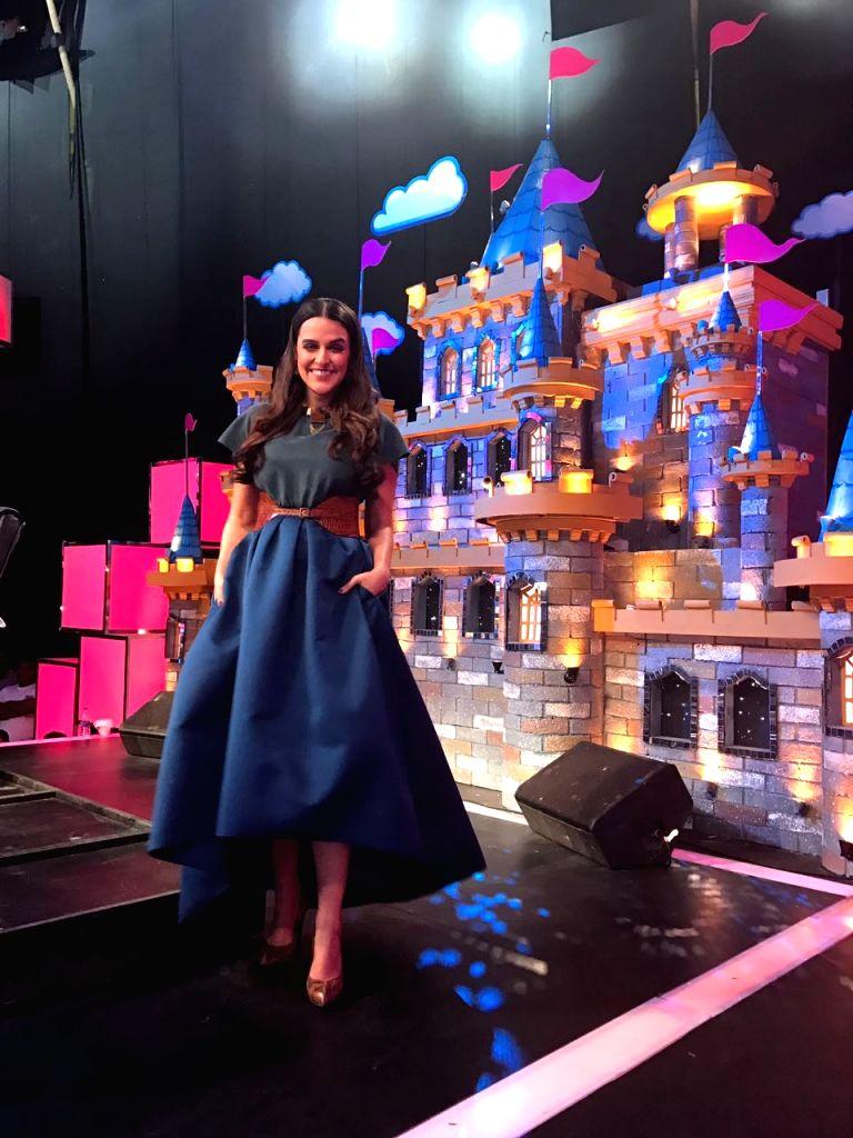 Actress Neha Dhupia at Chote Miyan comedy show in Mumbai. - Neha Dhupia