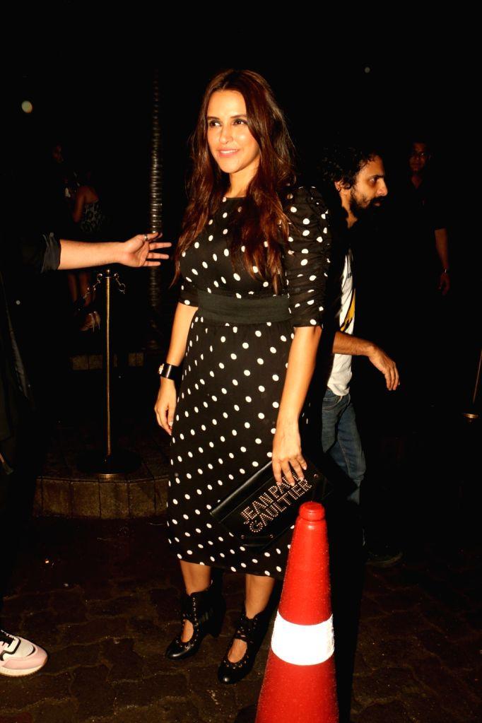 Actress Neha Dhupia at Estella Lounge in Mumbai on Oct 10, 2017. - Neha Dhupia