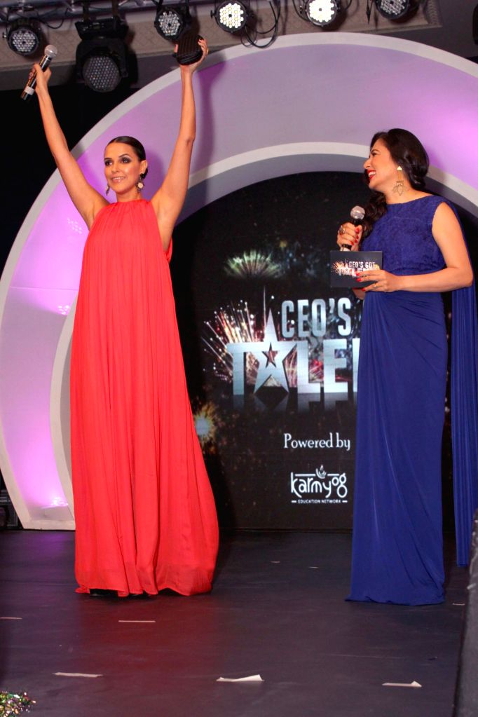 Actress Neha Dhupia at the CEO's talent hunt event, in association with genesis foundation in New Delhi on Nov. 15, 2014. - Neha Dhupia
