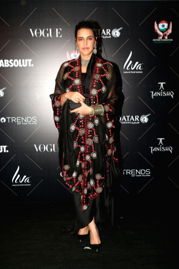 "Actress Neha Dhupia at the red carpet of ""Vogue Beauty Awards"" in Mumbai on July 31, 2018. - Neha Dhupia"