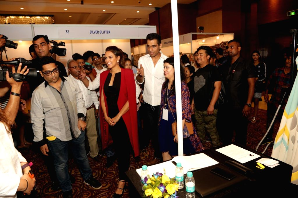 Actress Neha Dhupia at the second edition of Luxxis - A Fashion and Lifestyle Exhibition in New Delhi on April 5, 2017. - Neha Dhupia