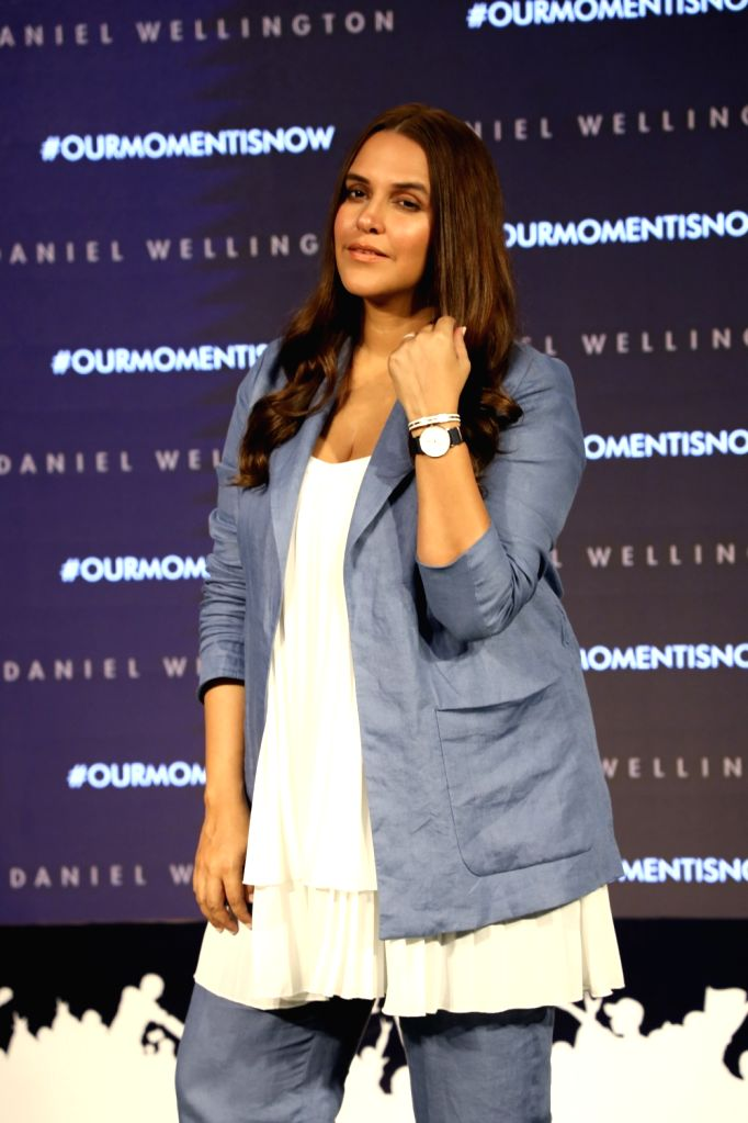Actress Neha Dhupia during a promotional programme in New Delhi on June 2, 2019. - Neha Dhupia