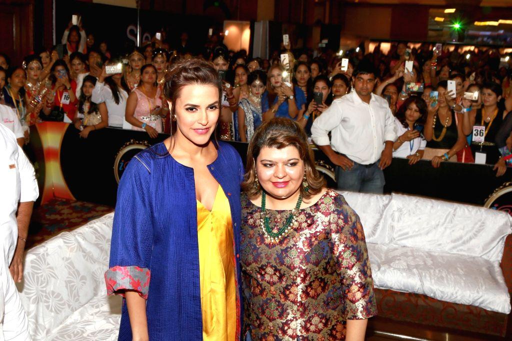 """Actress Neha Dhupia during """"I Diva Salon Awards"""" in New Delhi on Sept 20, 2016. - Neha Dhupia"""