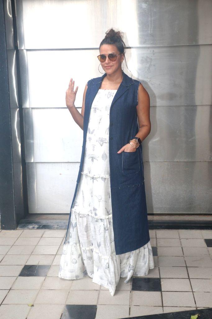 Actress Neha Dhupia during the recording for #NoFilterNeha Season 3 in Mumbai on Sept 15, 2018. - Neha Dhupia