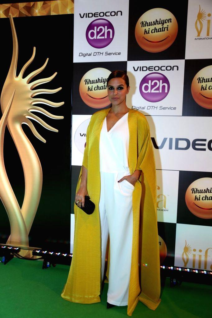 Actress Neha Dhupia during Videocon d2h IIFA Rocks 2016 in Madrid on June 24, 2016. - Neha Dhupia