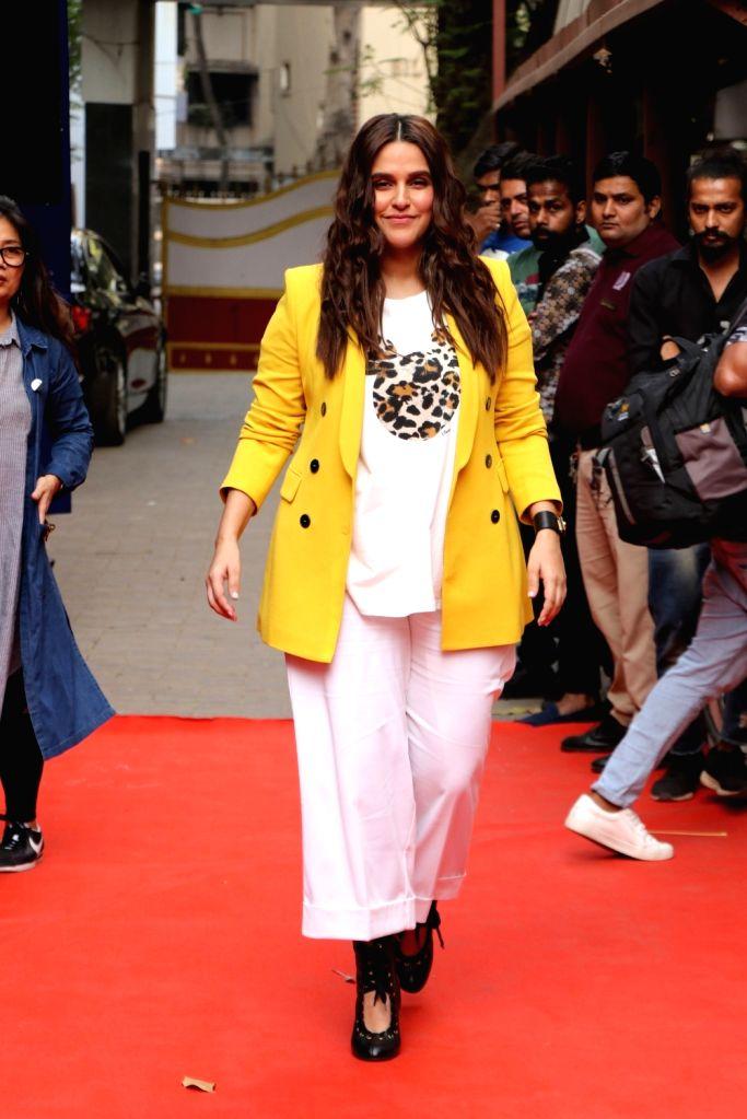 Actress Neha Dhupia on the set of her show Vogue BFFs Season 3 in Mumbai, on Feb 12, 2019. - Neha Dhupia