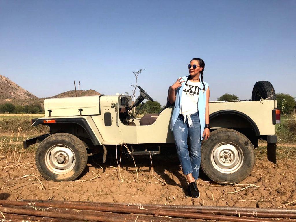 Actress Neha Dhupia on the sets of Roadies. - Neha Dhupia