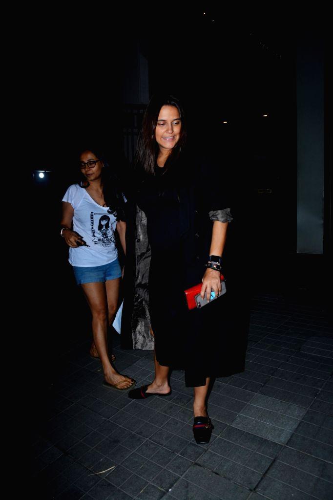 Actress Neha Dhupia seen at Mumbai's Khar on Sept 10, 2018. - Neha Dhupia