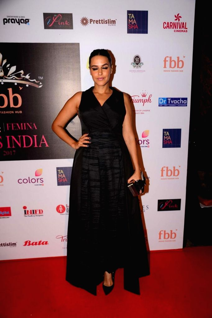 Actress Neha Dhupia the event organised to reveal the 30 state finalist of Miss India in Mumbai, on June 1, 2017. - Neha Dhupia