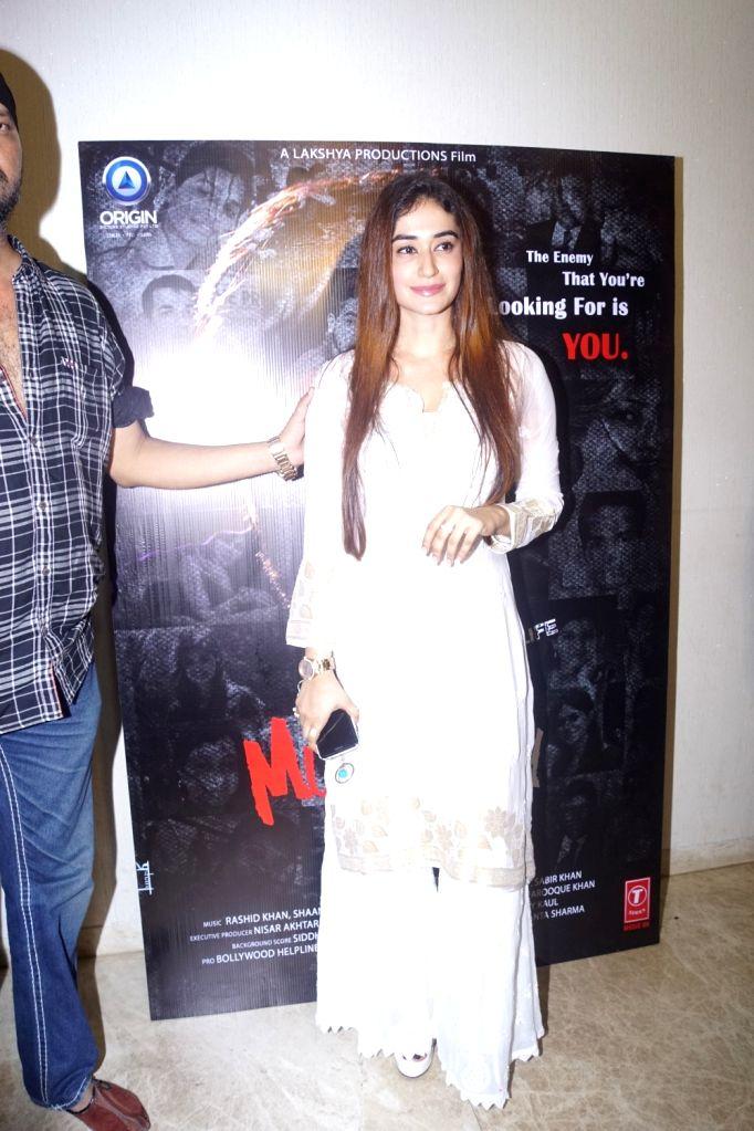"Actress Neha Khan at the trailer launch of her upcoming film ""The Dark Side Of Life Mumbai City"" in Mumbai on Sept 10, 2018. - Neha Khan"