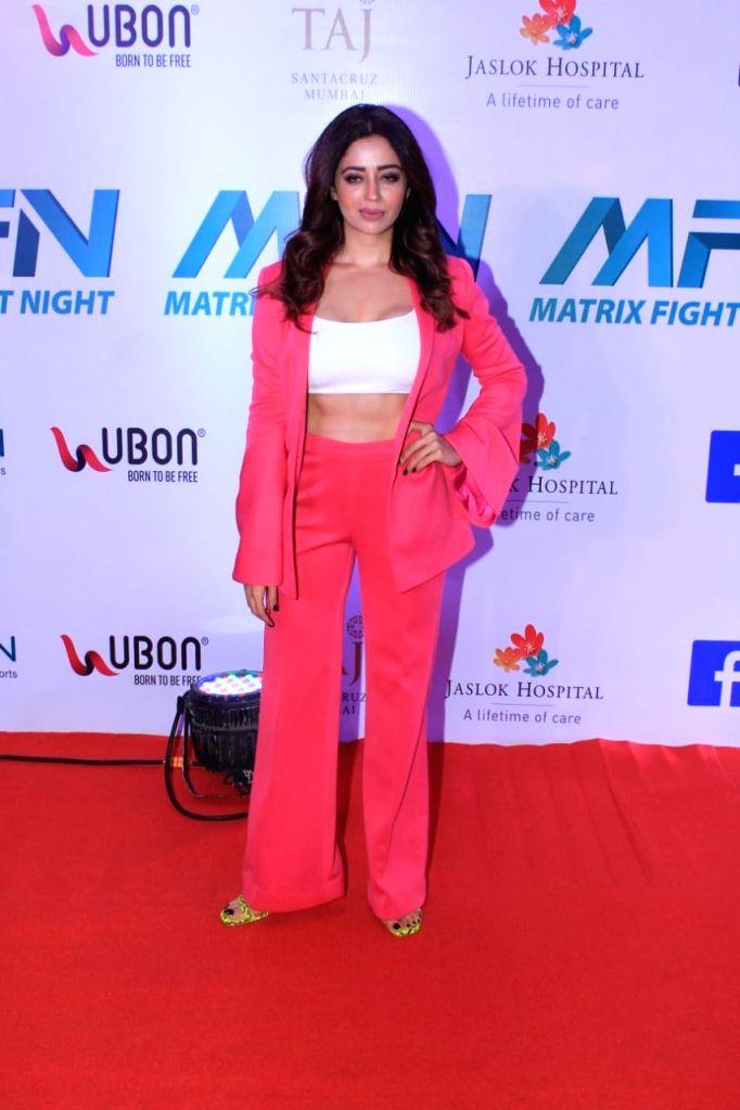 Actress Neha Pendse at Matrix Fight Night Red Carpet in Mumbai, on March 12, 2019. - Neha Pendse